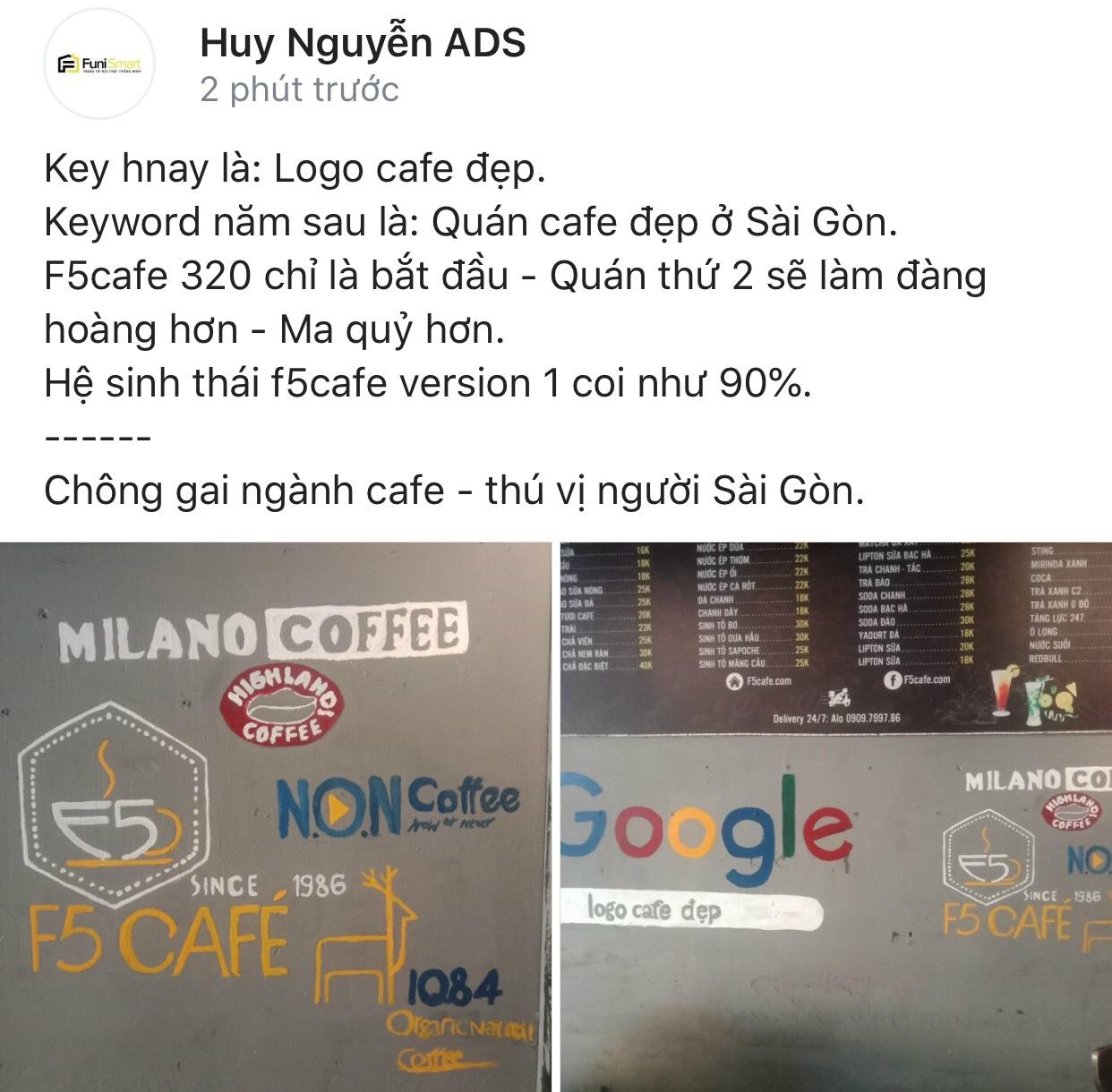 Tương lai kế hoạch mở chuỗi cafe của quán f5cafe chắc chắn từng bước