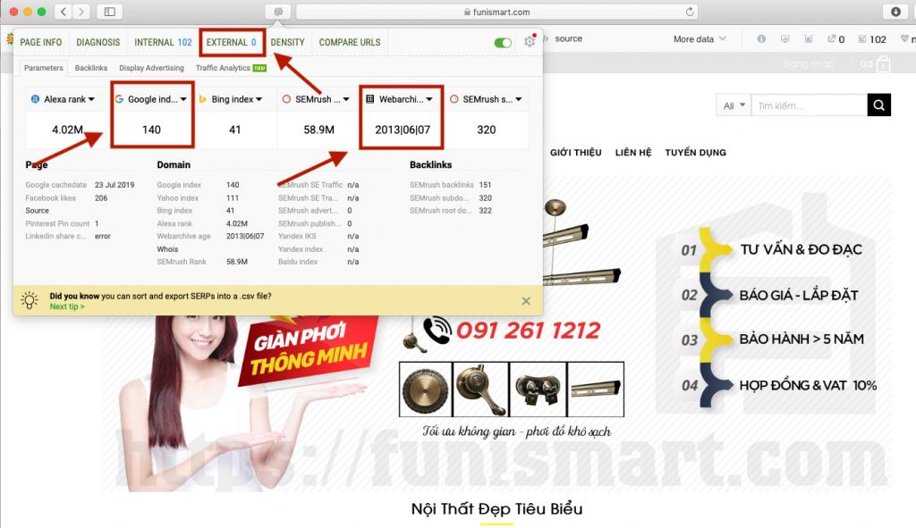 Công cụ SEOquake đánh giá website chất lượng