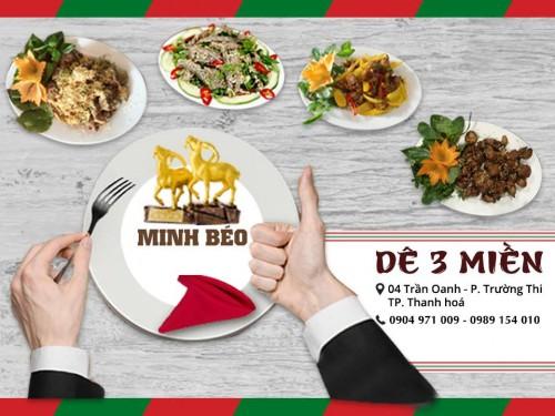 Nhà hàng dê núi ngon nhất Thanh Hoá của Minh Béo
