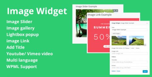 Widget hay cho WordPress không thể bỏ qua image widget