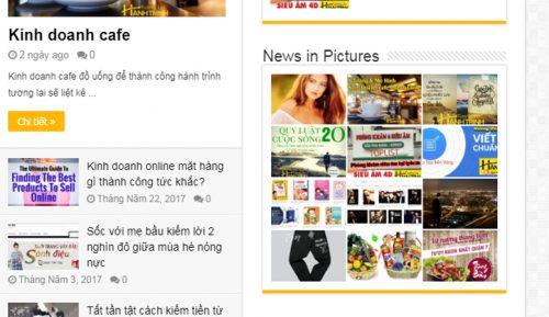 Widget đẹp cho WordPress với tính năng chèn ảnh News in Pictures