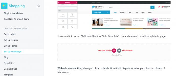 Quy trình cài đặt theme shopping wordpress của Opal làm demo
